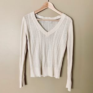 Aeropostale Cable Knit Cream Sweater